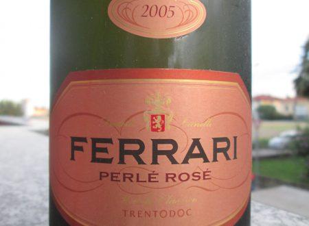 """Ferrari """"Perlé rosé"""" 2005: il gusto di saper rischiare."""