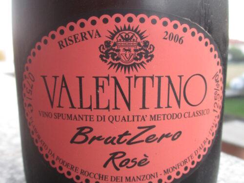 Il mio nome è Valentino, sono un Rosé BrutZero.