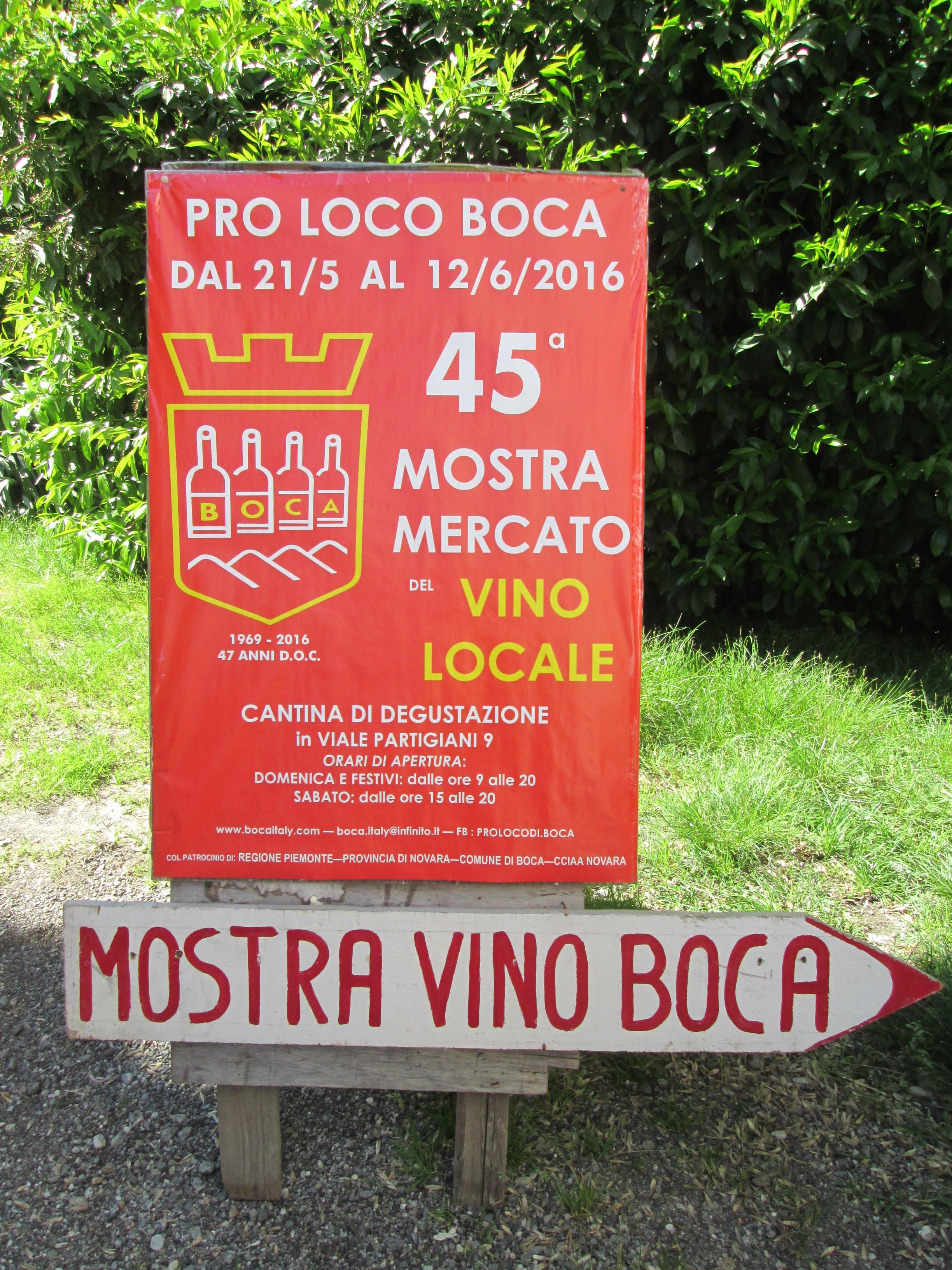 45° mostra mercato del vino locale di Boca